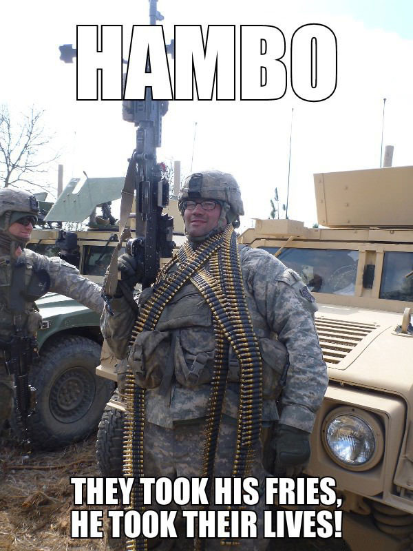 hambo, they took his fries he took their lives, meme