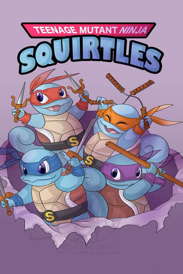 teenage mutant ninja squirrels, pokemon tent mashup