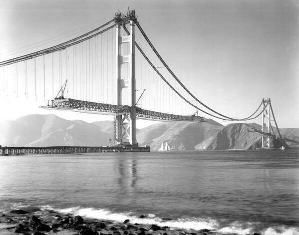 1937 - golden gate bridge construction