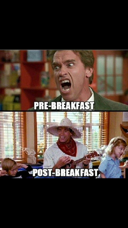 pre and post breakfast, arnold schwarzenegger