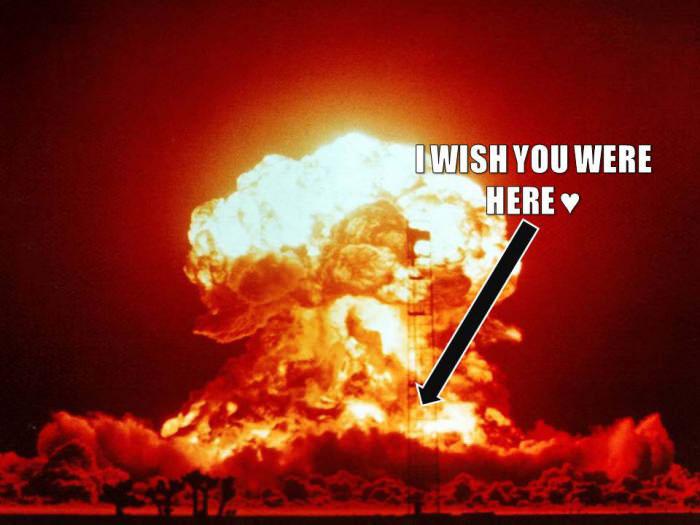 i wish you were here, atomic bomb