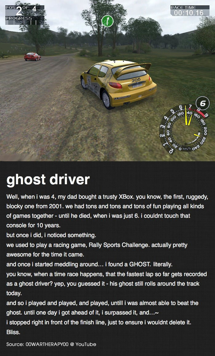 for father's day, the ghost driver, xbox, try not to cry, cry a lot