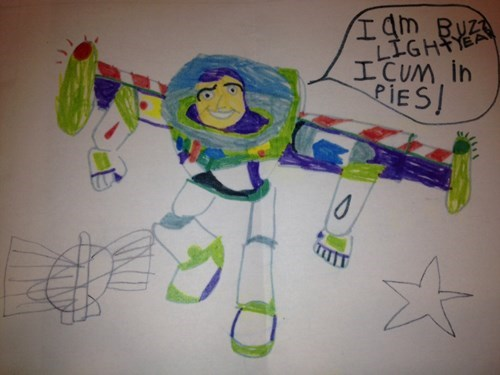 when spelling and grammar make all the difference, i am buzz light year, i cum in pies