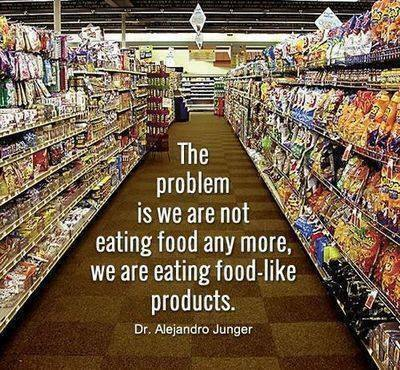 the problem is we are not eating food any more, we are eating food-like products