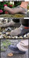 chain mail socks keep your feet cool and protected, but not clean
