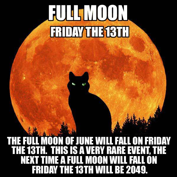 full moon friday the 13th, the next time a full moon will fall on friday the 13th will be in 2049