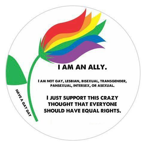i am an ally, i just support this crazy thought that everyone should have equal rights