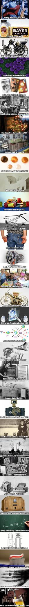 here are some german inventions and discoveries... you're welcome!