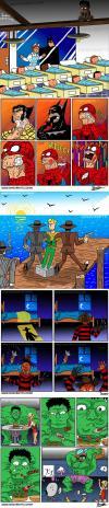 funny superhero jokes in comic form, lol, marvel, hulk, spiderman, wolverine, batman