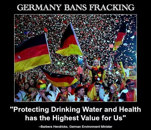 germany bans fracking, protecting drinking water and health has the highest value for us, motivation, good politics