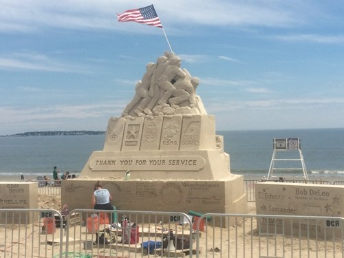 best sand sculpture ever, thank you for your service