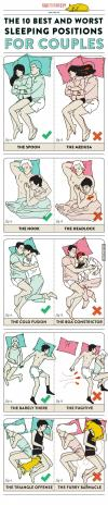 the ten best and worst sleeping positions for couples