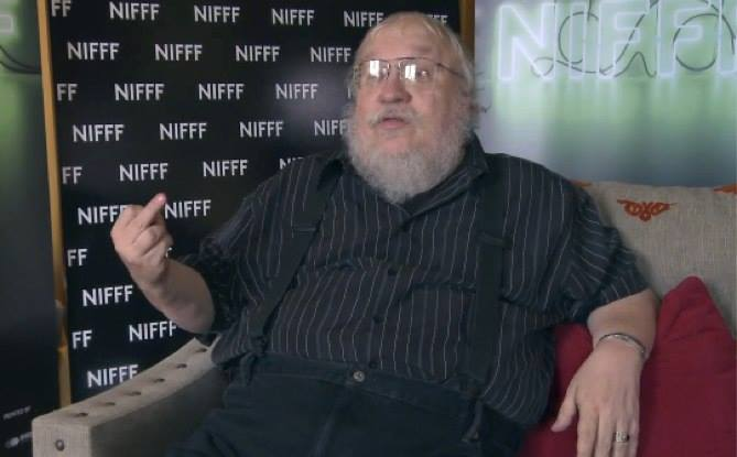 george r.r. martin giving you the finger