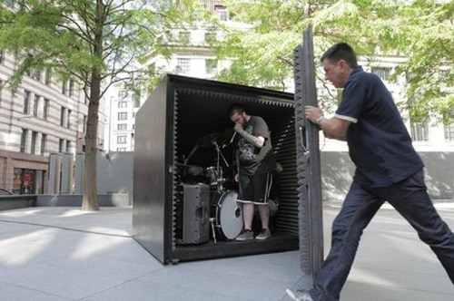a death metal band will perform in this air-tight box until they run out of oxygen because metal