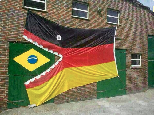 germany versus brazil, world cup 2014, 7-1, pacman germany flag