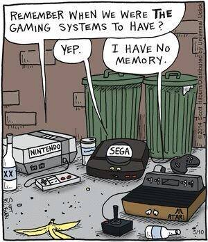 remember when we were the gaming systems to have?, i have no memory, comic, consoles