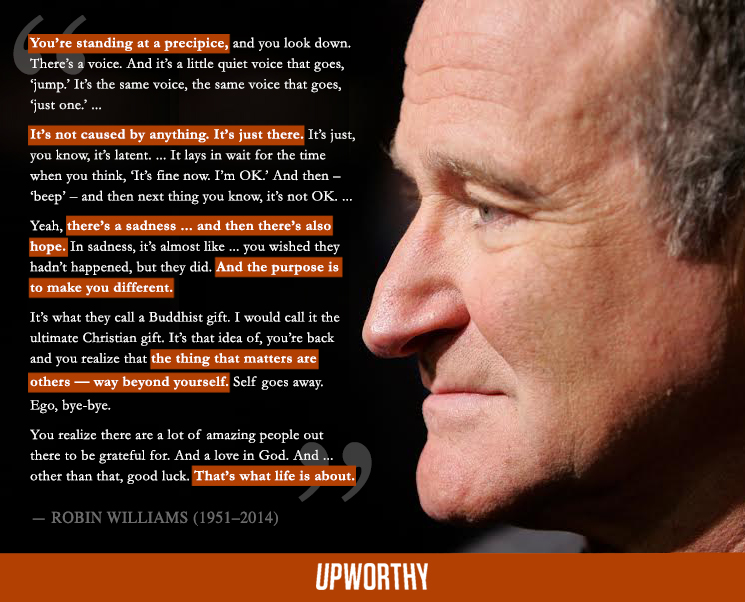 a touching quote from the late robin williams