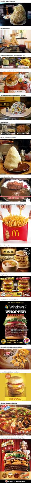 16 huge food you have never seen before, giant portions, fast food