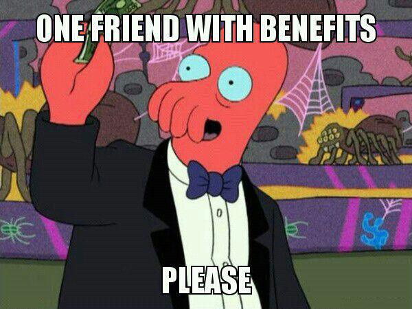 one friends with benefits please, zoidberg, futurama, meme
