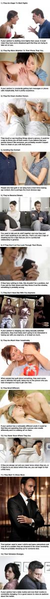 signs that your partner might be cheating on you or is otherwise unhappy with your relationship