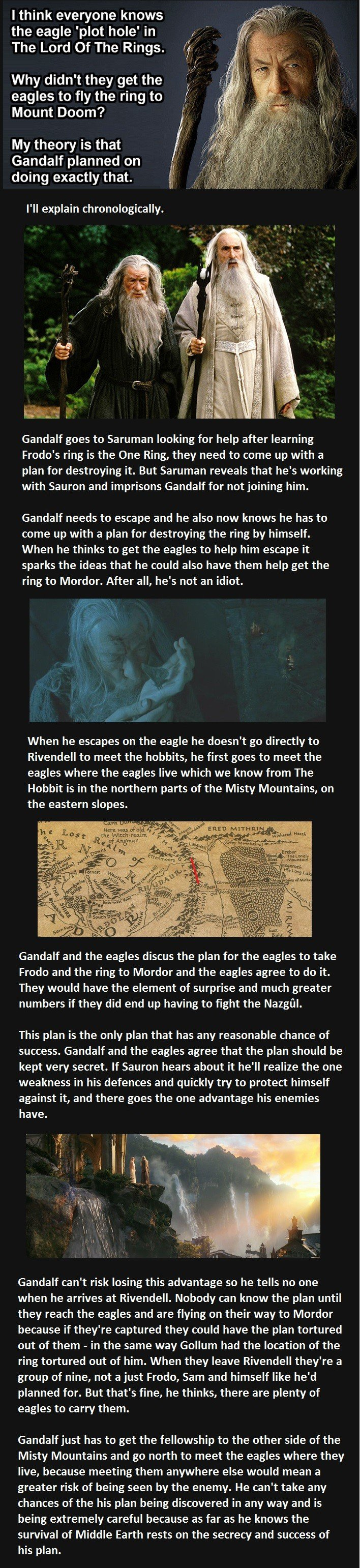this guy just changed the way we see lord of the rings, the eagle plot hole