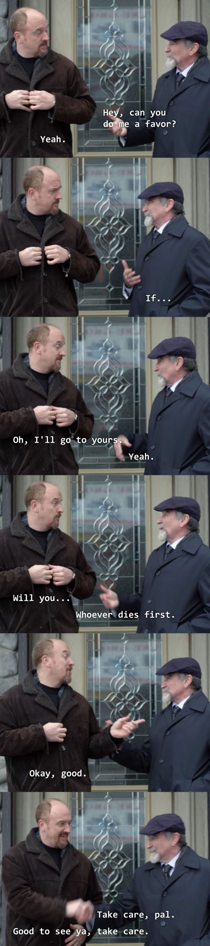 louis ck and robin williams make a deal