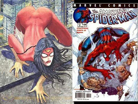 remember the controversy about the sexy spider women comic book cover, here is the male equivalent, notice how they are almost identical