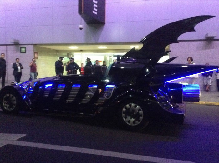 oh that is just my batmobile at an airport in mexico