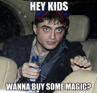 hey kids, wanna buy some magic?, harry potter, daniel radcliffe