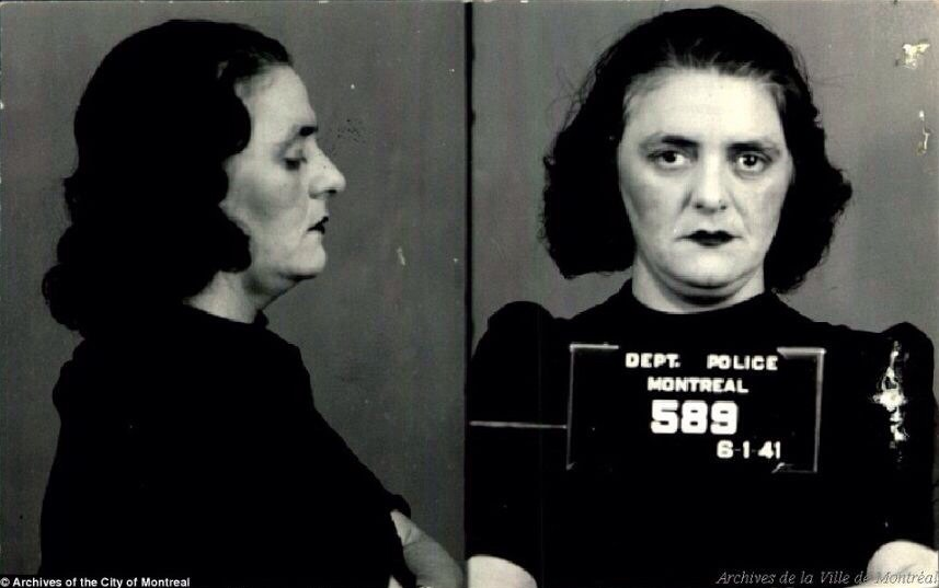 mug shots of montreal prostitutes from the 1940s, ugly