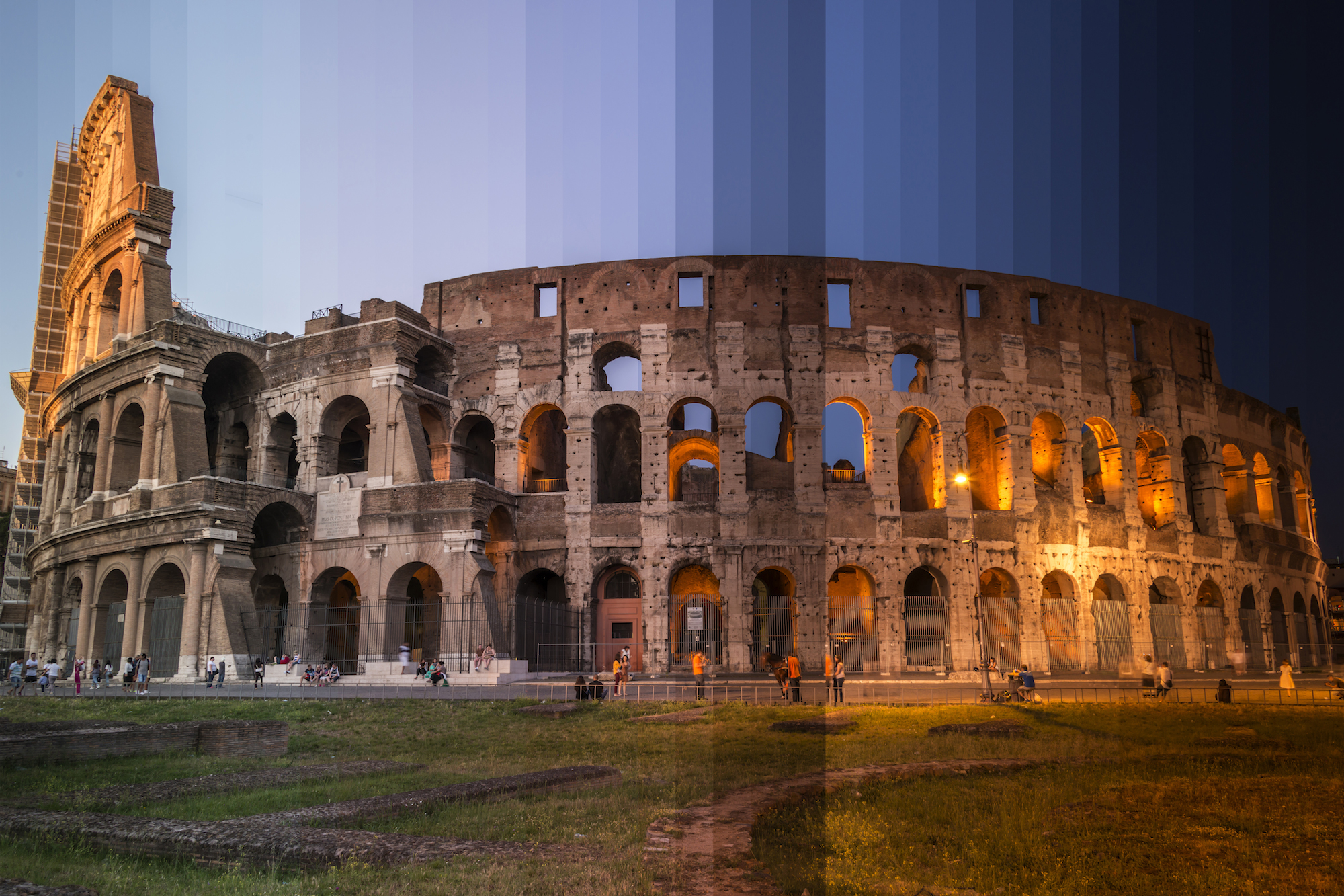 here is what famous buildings look like from day to night in one photo