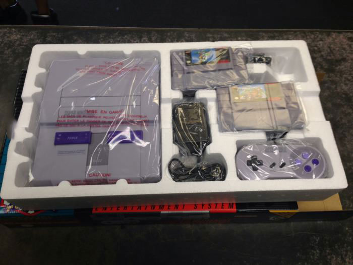 shrink wrapped mint condition unopened super nintendo, snes