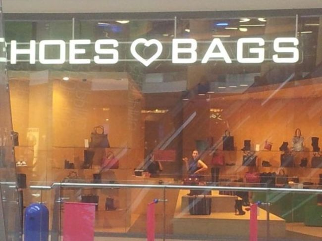 hoes love bags, awkward store name