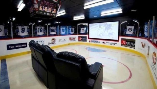 the best projector room for watching hockey ever