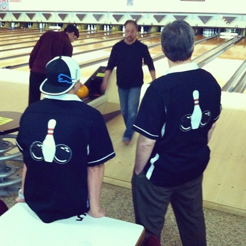 everyone sees what you did there, bowling tshirt looks like two balls and a pin