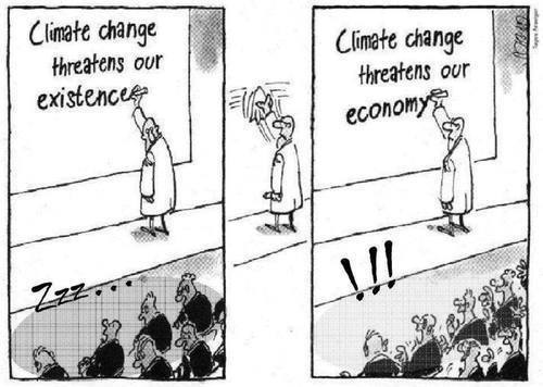 how to get people to care about climate change, climate change threatens our economy