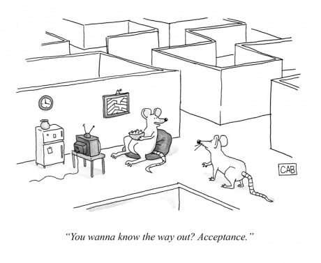 you wanna know the way out? acceptance, comic, mouse,