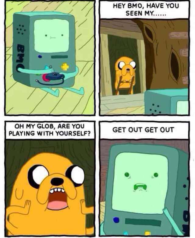 omg are you playing with yourself?, get out get out!, adventure time, comic