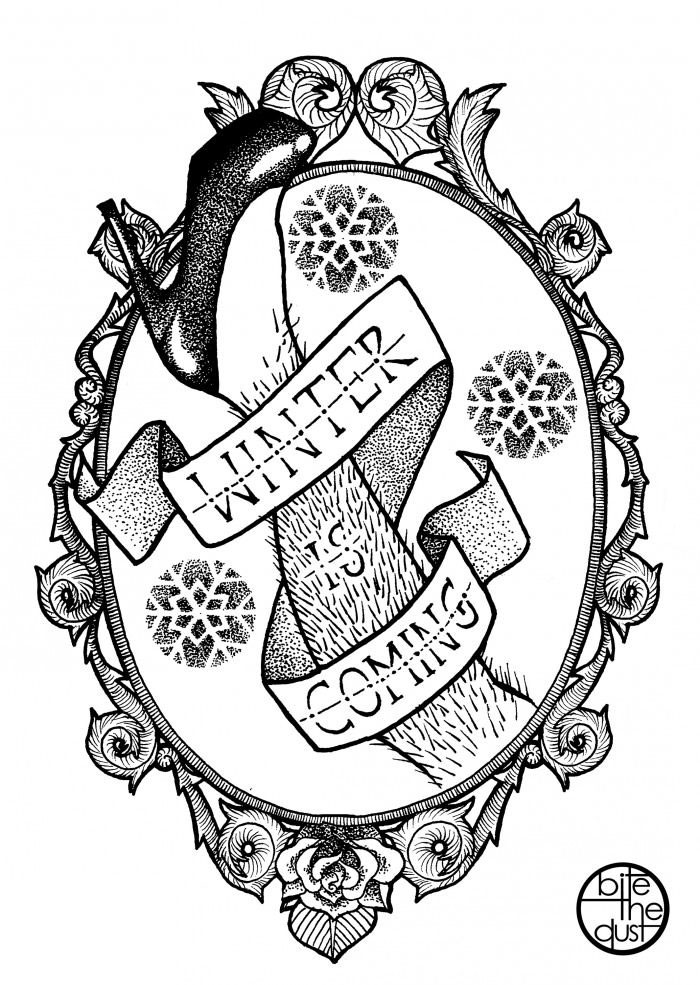 winter is coming coat of arms, hairy leg