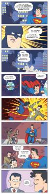 the simplest paradoxal solution to batman versus superman, comic, time travel