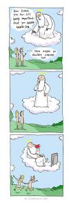 it's very important that you don't sin, then maybe you shouldn't create sin, comic, god