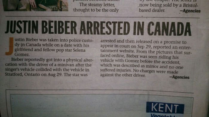 justin briber arrested in canada, you are welcome