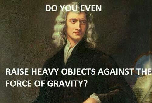 do you even raise heavy objects against the force of gravity?, do you even lift bro?