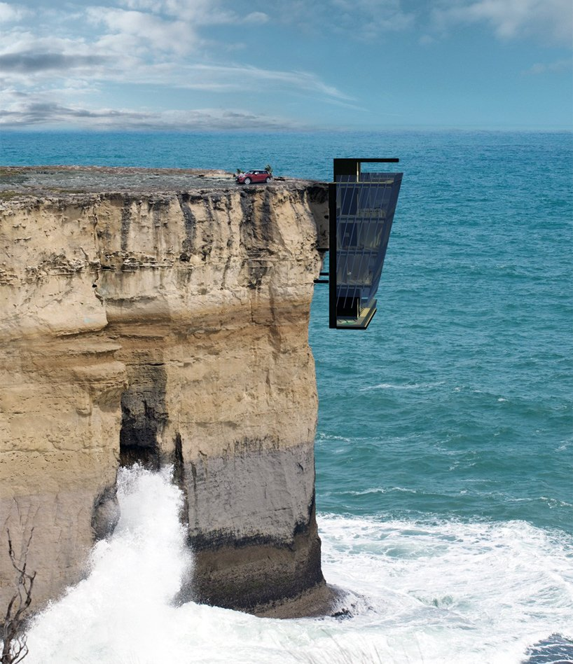 an australian firm has designed the scariest house ever hanging off the side of a cliff, news