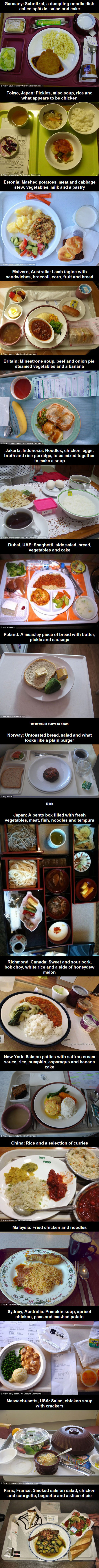 this is what hospital food looks like around the world