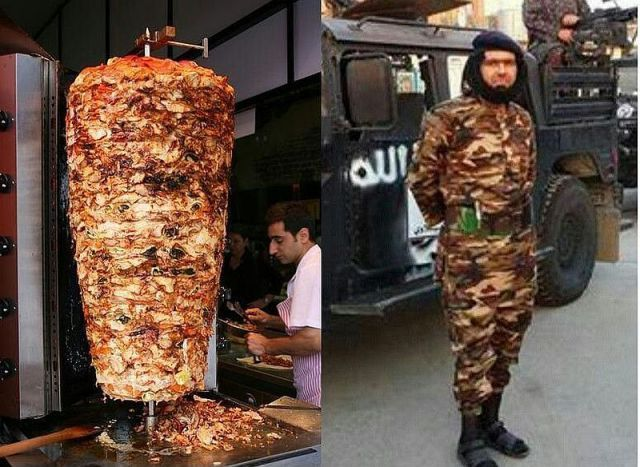 when you need to blend into a foreign country's life style, camouflage that looks like meat