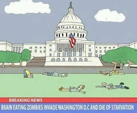 brain eating zombies invade washington dc and die of starvation