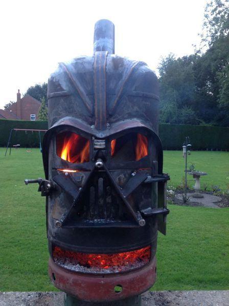 darth vader helmet fire pit, win