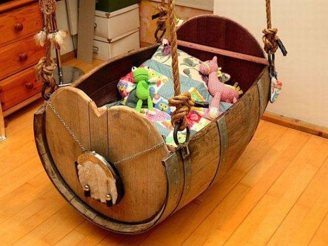 pirate barrel themed baby rocker