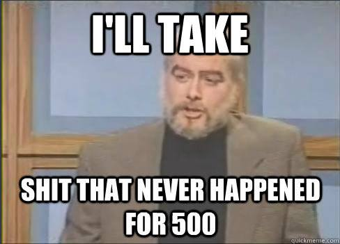 i'll take shit that never happened for 500, snl celebrity jeopardy, sean Connery, meme